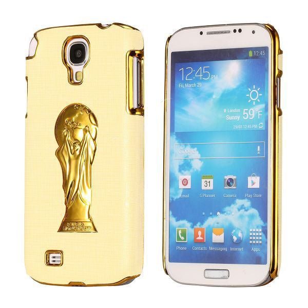 Brazil Soccer World Cup Commemorative Edition PC Hard case for Samsung Galaxy S4 I9500 (Light Yellow)