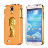 Brazil Soccer World Cup Commemorative Edition PC Hard case for Samsung Galaxy S4 I9500 (Orange)