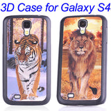 3D Lion and Tiger Hard Back Case for Samsung Galaxy S4 i9500