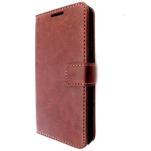 Bracevor Samsung Galaxy Alpha Wallet Leather Case Cover brown