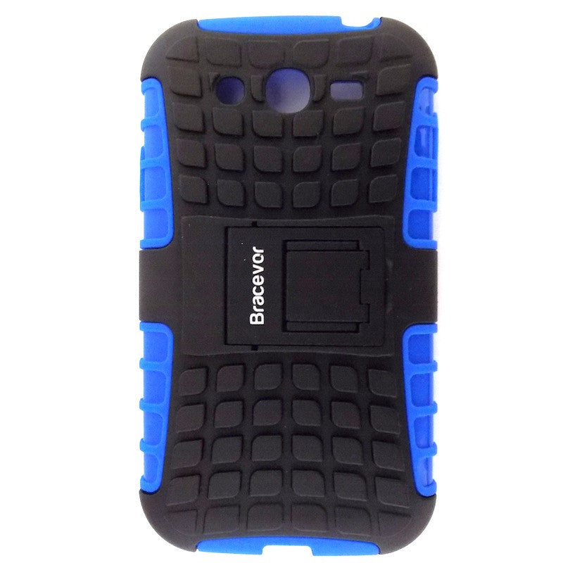 Bracevor Rugged Armor Hybrid Kickstand Case Cover for Samsung Galaxy Grand Duos i9082 - Blue