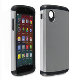 Dazzling Silver Tough Armor Back Case for LG Google Nexus 5