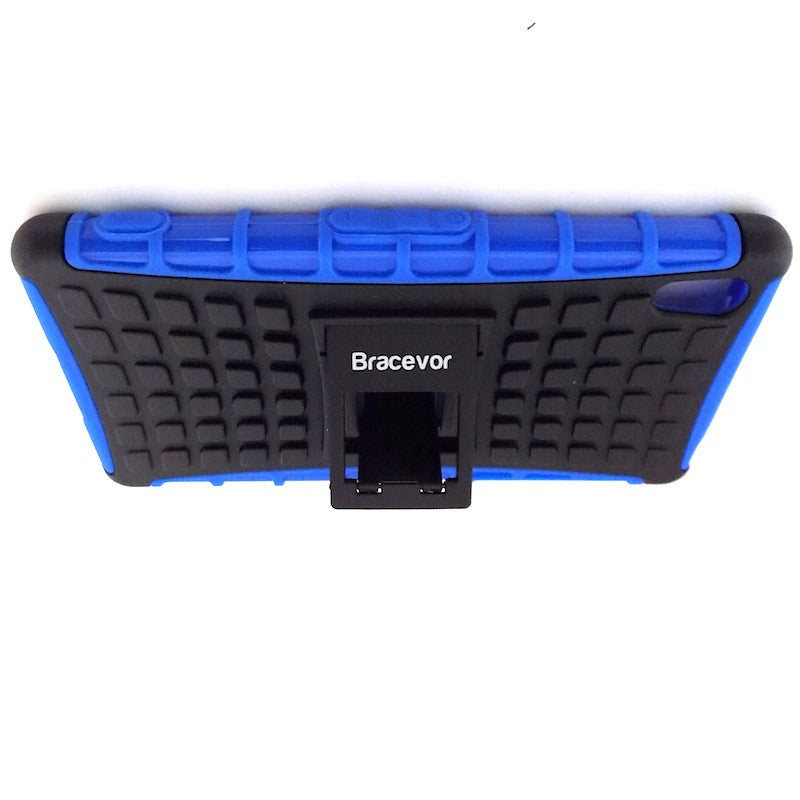 Bracevor Rugged Armor Hybrid Kickstand Case Cover for Sony Xperia Z2 - Blue