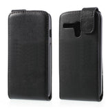 Magnetic Leather Vertical  Flip Case for Motorola Moto G - Black