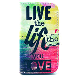 Life Design Wallet Leather Flip Case for Motorola Moto G