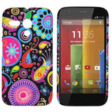 Flower Circles Design hard back case cover for Motorola Moto G