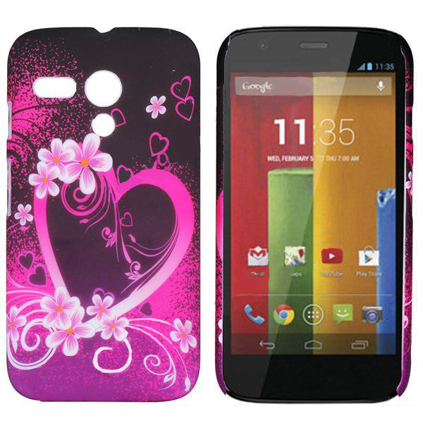 Bracevor Elegant Heart Design hard back case cover for Motorola Moto G