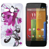 Elegant Floral Design hard back case cover for Motorola Moto G