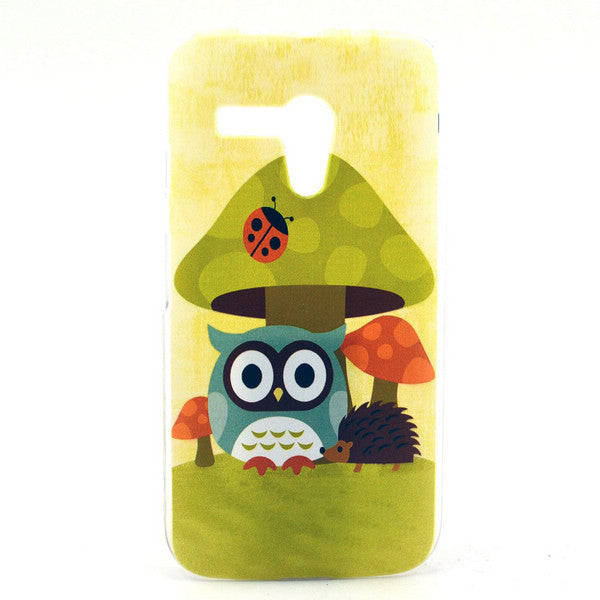Bracevor Owl Mushroom Design Flexible Gel TPU Case Cover for Motorola G XT1032 1033