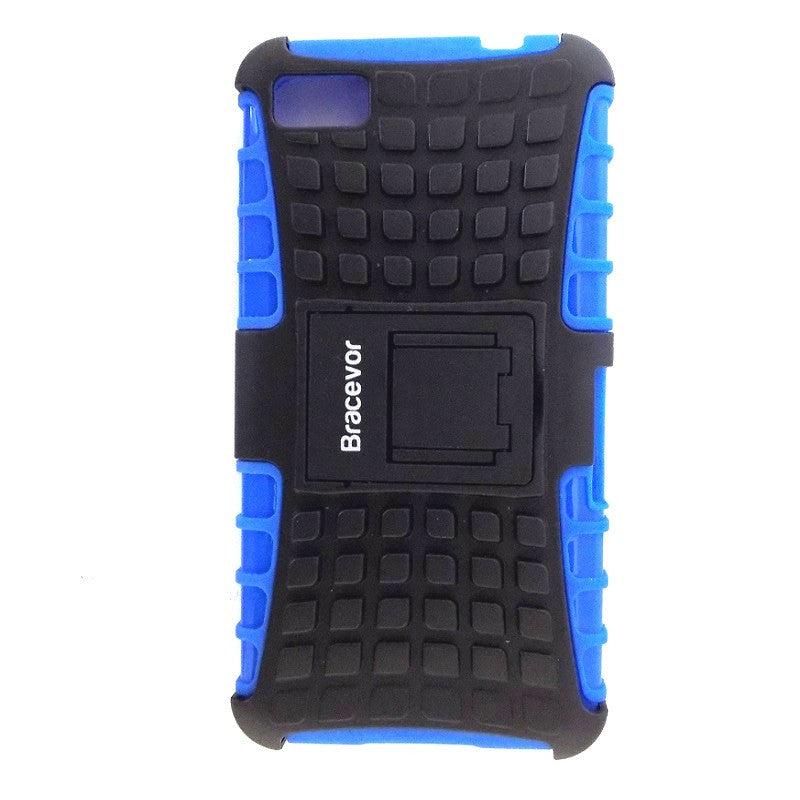 Bracevor Rugged Armor Hybrid Kickstand Case Cover for Blackberry Z10 - Blue