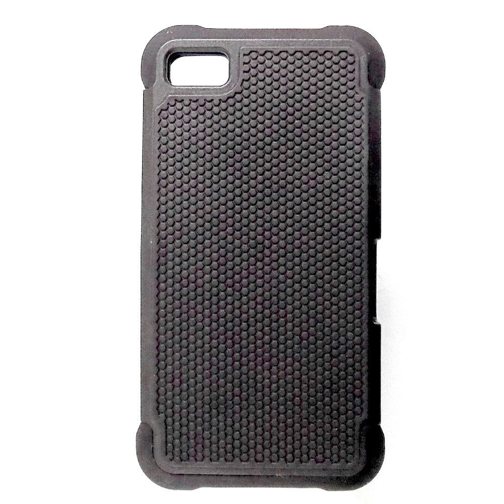 Bracevor Triple Layer Defender Back Armor Case Cover for Blackberry Z10 - Black