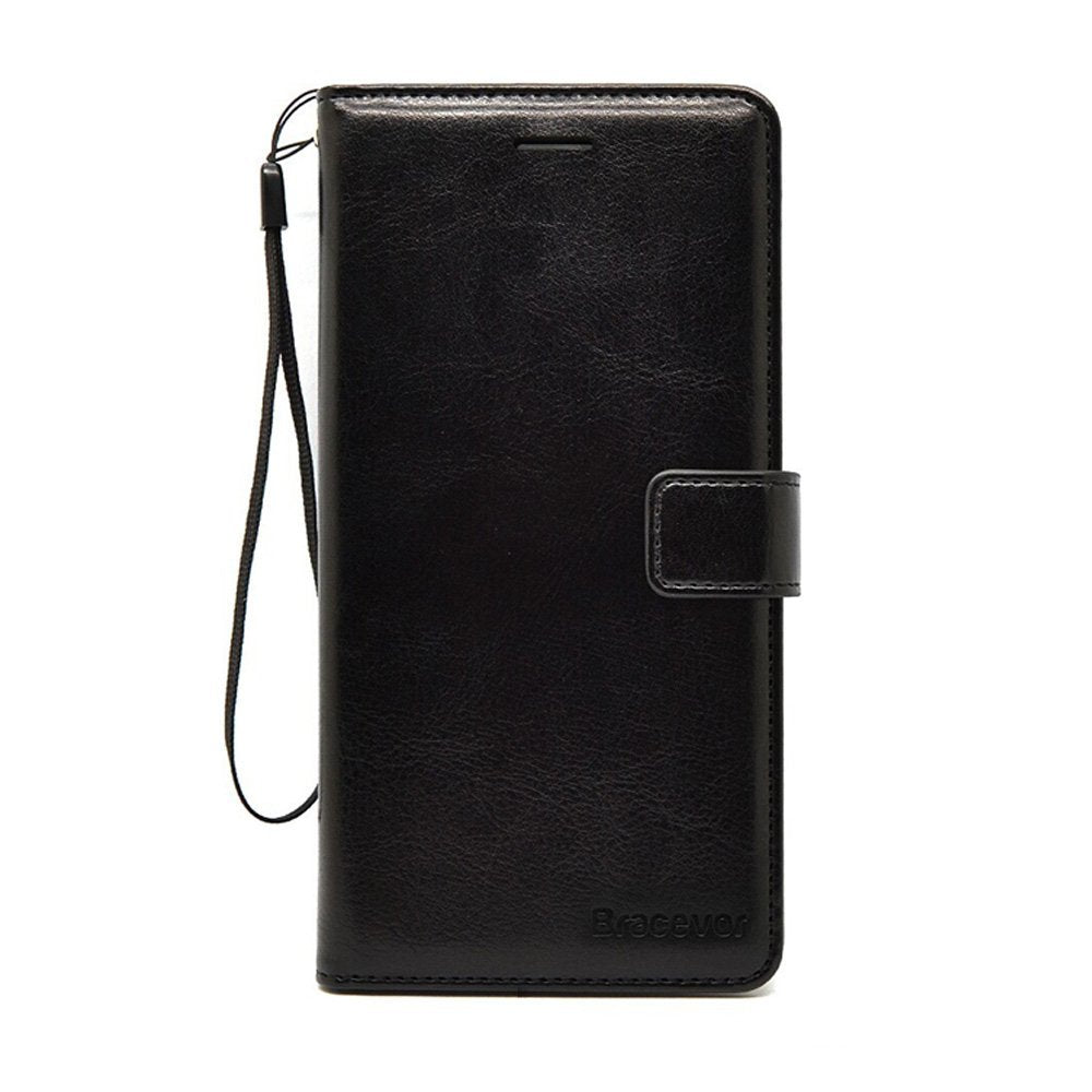 Bracevor iPhone 5 5s SE Premium Wallet Leather Stand Case Flip Cover - Executive Black