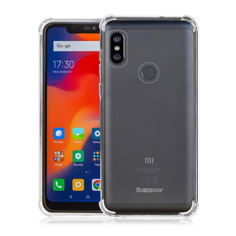 Bracevor Flexible Shockproof TPU for Xiaomi Redmi Note 6 Pro Back Case Cover | Ultimate Edge Protection | Cushioned Edges | Premium Design - Transparent