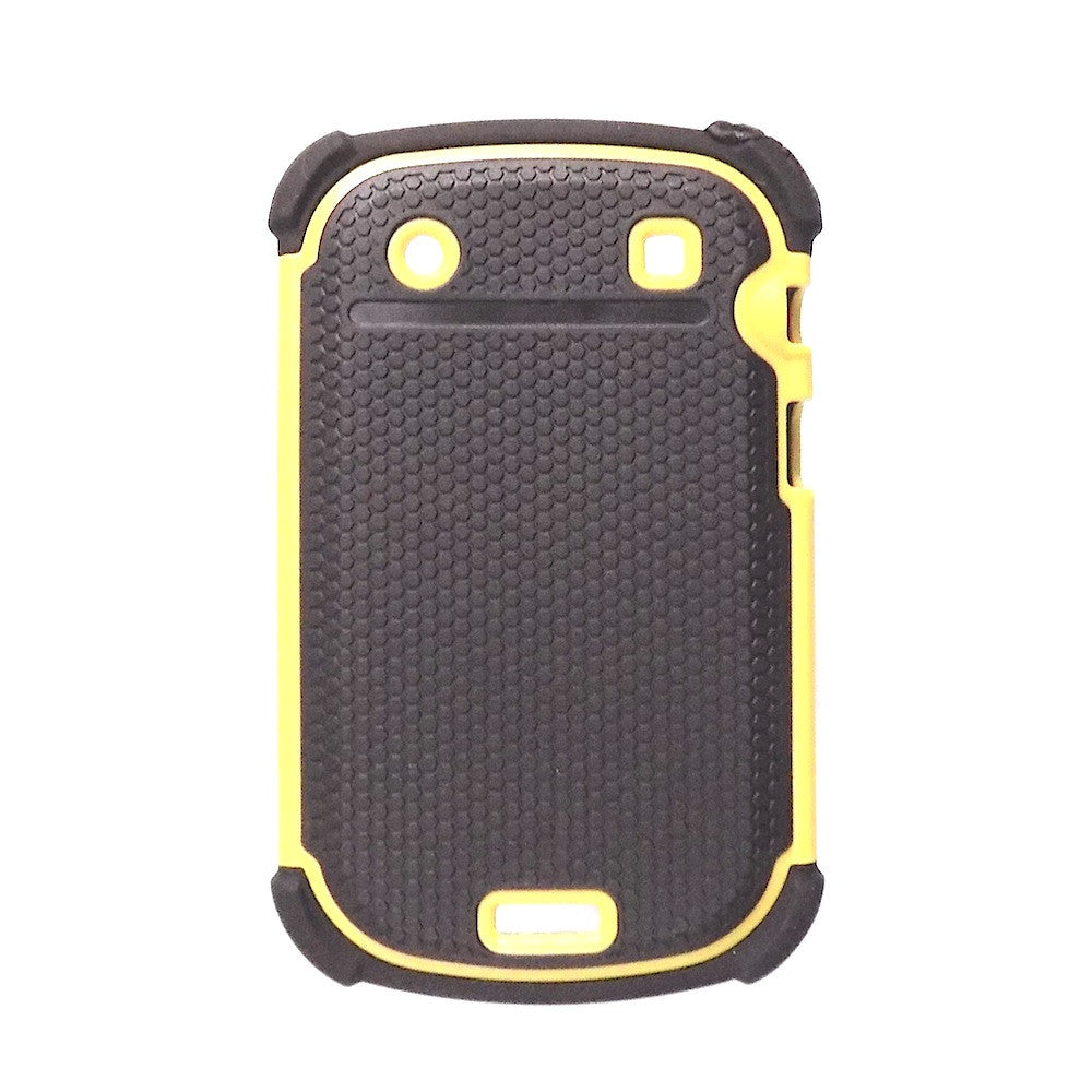 Bracevor Triple Defender Back Case Cover for Blackberry Bold Touch 9930 9900 - Yellow