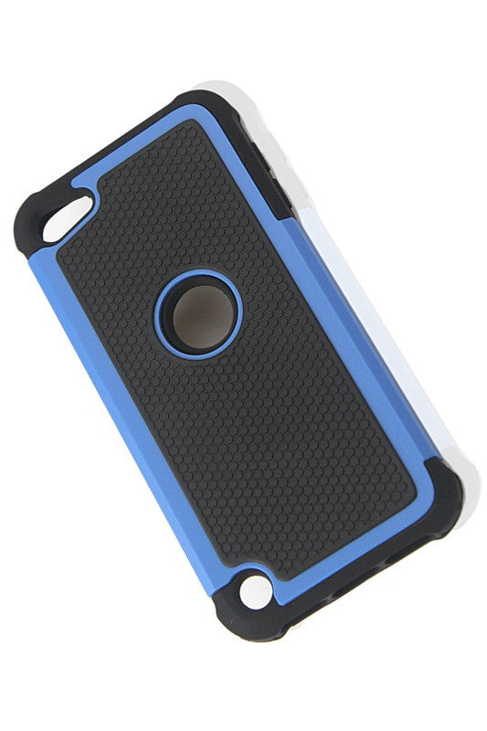 Bracevor Triple Layer Defender Back Case Cover for Apple iPod Touch 5 - Blue 1