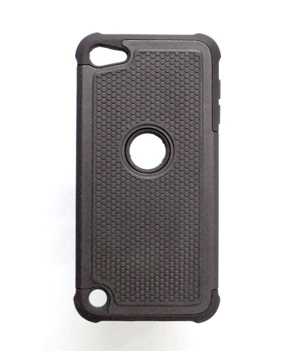 Bracevor Triple Layer Defender Back Case Cover for Apple iPod Touch 5 - Black