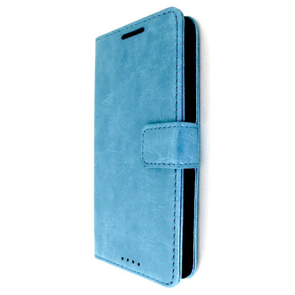 Bracevor Blue Wallet Leather Case Cover for HTC One M7 1