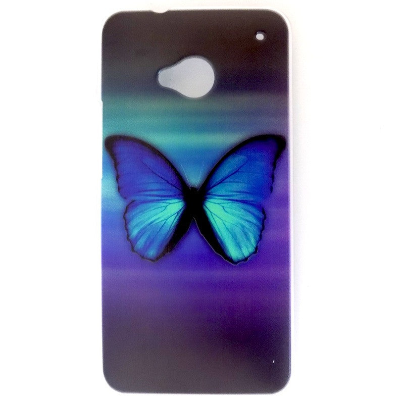 Bracevor Splendid Butterfly Design Hard Back Case for HTC One M7 801e