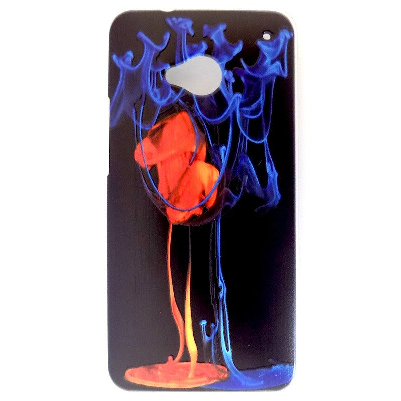Bracevor Fire and Ice Design Hard Back Case for HTC One M7 801e