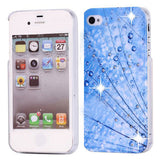 Bling Diamond Azure Raindrops Design Back Case for Apple iPhone 4 4s