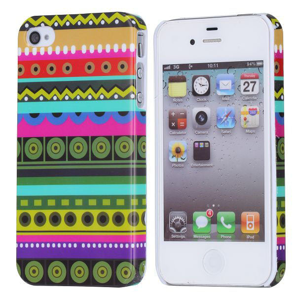 Aztec Design Hard Back Case Cover for Apple iPhone 4 4s - D1