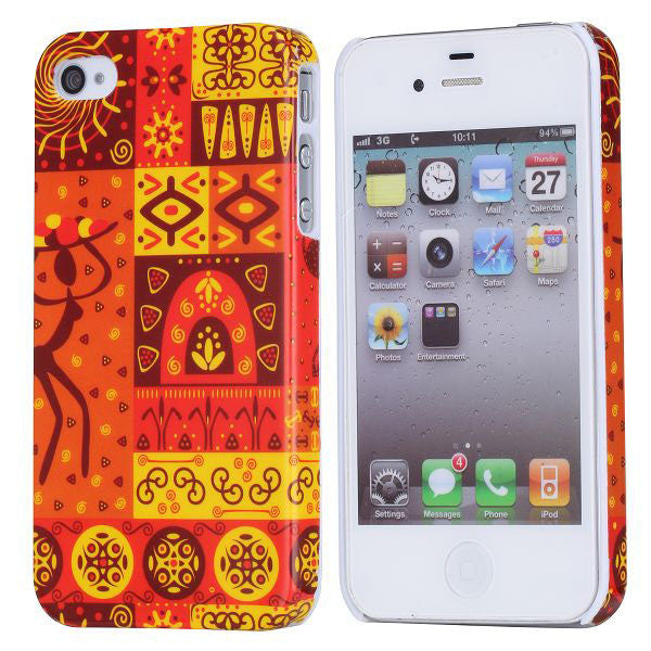 Mural Design Hard Back Case Cover for Apple iPhone 4 4s - Tribal