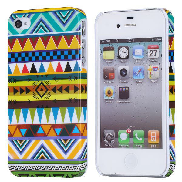 Aztec Design Hard Back Case Cover for Apple iPhone 4 4s - D3