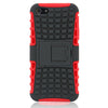 Bracevor 2 in 1 Hybrid Robot Kick Stand Case for iPhone 5 5s - Red