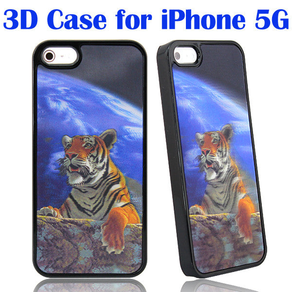 3D Ultra slim magical thinking Tiger Hard Back Case for Apple iPhone 5 5s