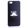 Bracevor Funny Mustache Design Back Case for iPhone 5 5s - Black
