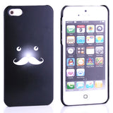 Bracevor Funny Moustache Design Back Case for iPhone 5 5s - Black