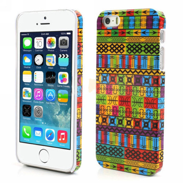 Aztec Art Design Hard Back Case Cover for Apple iPhone 5 5s (Symbols)