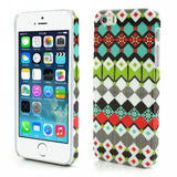 Aztec Art Design Hard Back Case Cover for Apple iPhone 5 5s (Plaids)