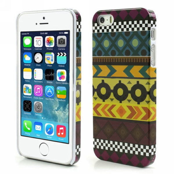 Aztec Art Design Hard Back Case Cover for Apple iPhone 5 5s (insignia)