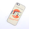 Bracevor Quotes Design Aluminium PC back case for iPhone 5 5s - Life