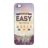 Bracevor Quotes Design Aluminium PC back case for iPhone 5 5s - Easy