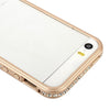 Bracevor Detachable Diamante Rhinestone Inlaid Style Metal Bumper Frame Case for iPhone 5 5s (Gold)