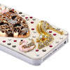 3D Luxury Rhinestone Leopard Designer Back Case for iPhone 5 5s