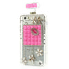 Bracevor Bling Diamond Lip Flower Perfume Bottle TPU Handbag Case for iPhone 5s 5 - Rose