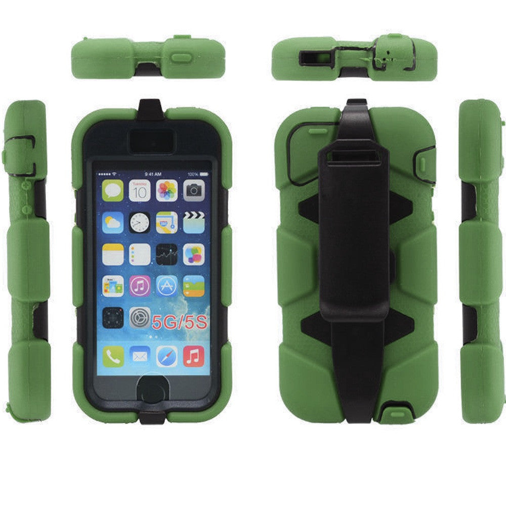 Bracevor 4 in 1 Heavy Duty Belt Clip Holster Case for Apple iPhone 5 5s