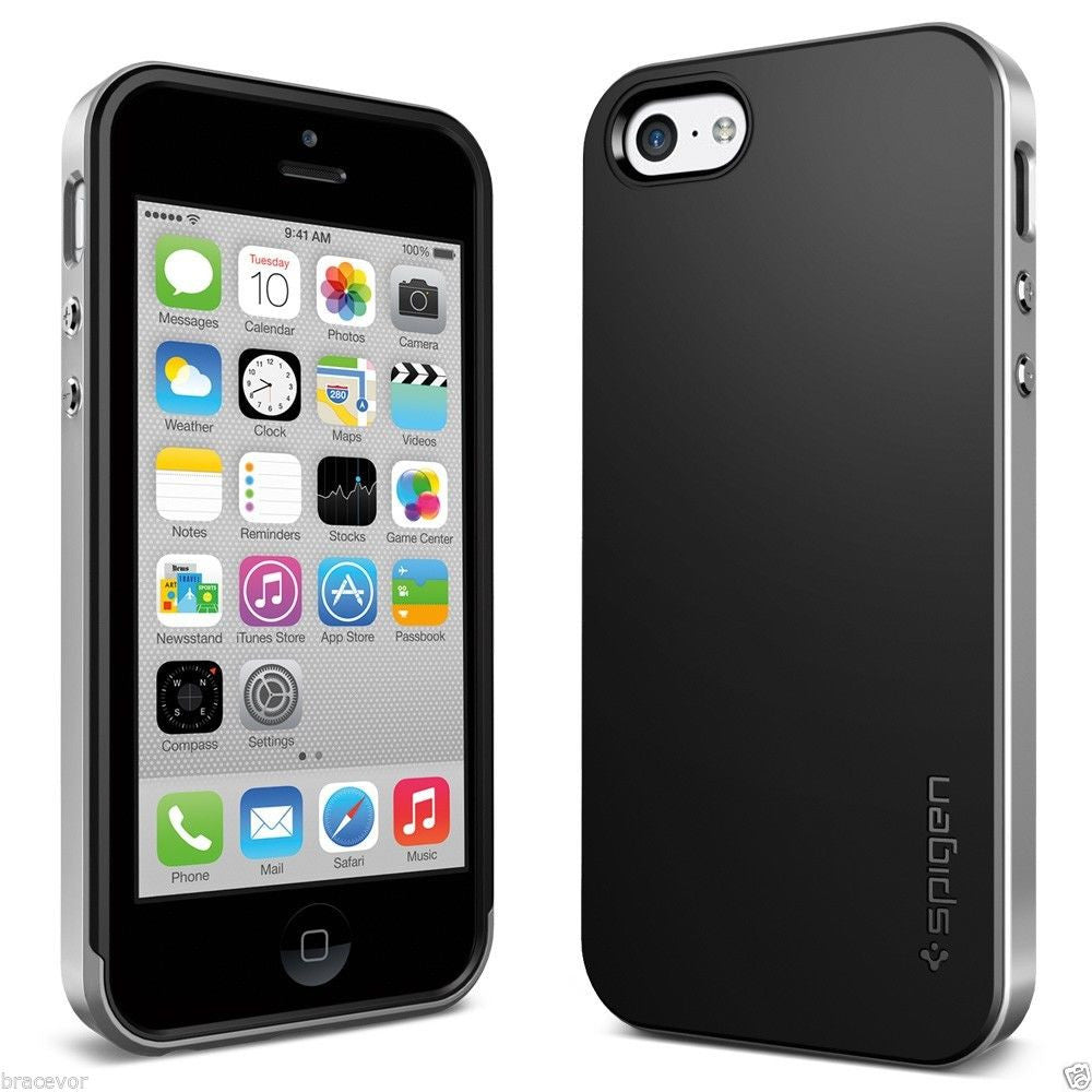 Neo Hybrid Bumper Back Case for Apple iPhone 5c - Silver
