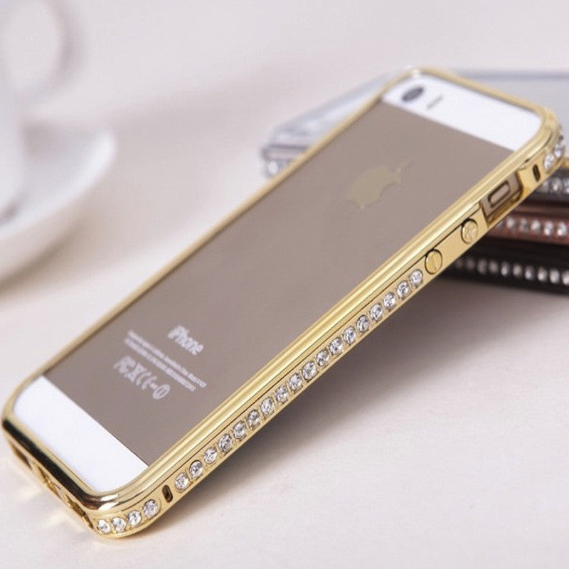 Bracevor Diamond Crystal Metal Bumper Case for iPhone 6 4.7 inch(Gold)