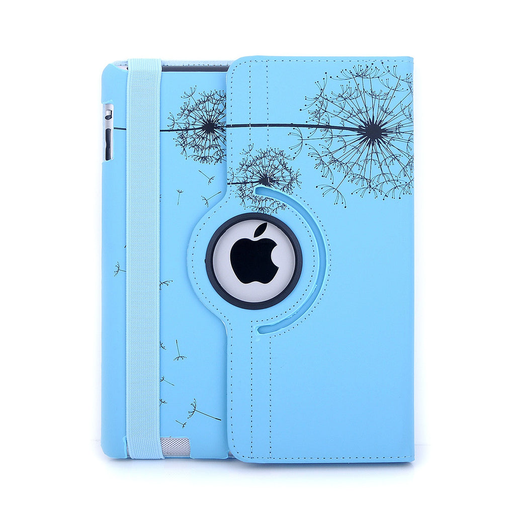 Bracevor Trendy Smart Leather Rotating Stand Case Cover for Apple iPad 2 3 4 - Blue