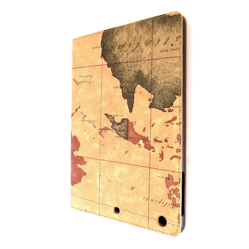 Bracevor Map Design Smart Leather Case for Apple iPad mini 1- Beige b