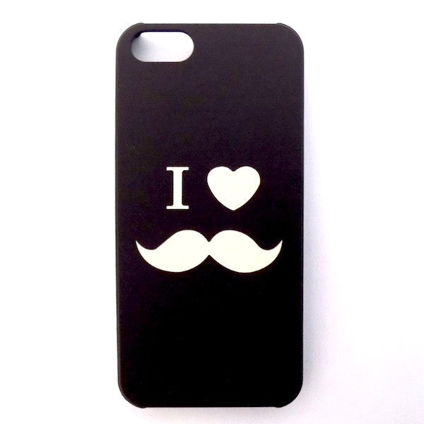 Bracevor Noctilucent Design Oil Coated PC Hard Case for iPhone 5 5S (Moustache)