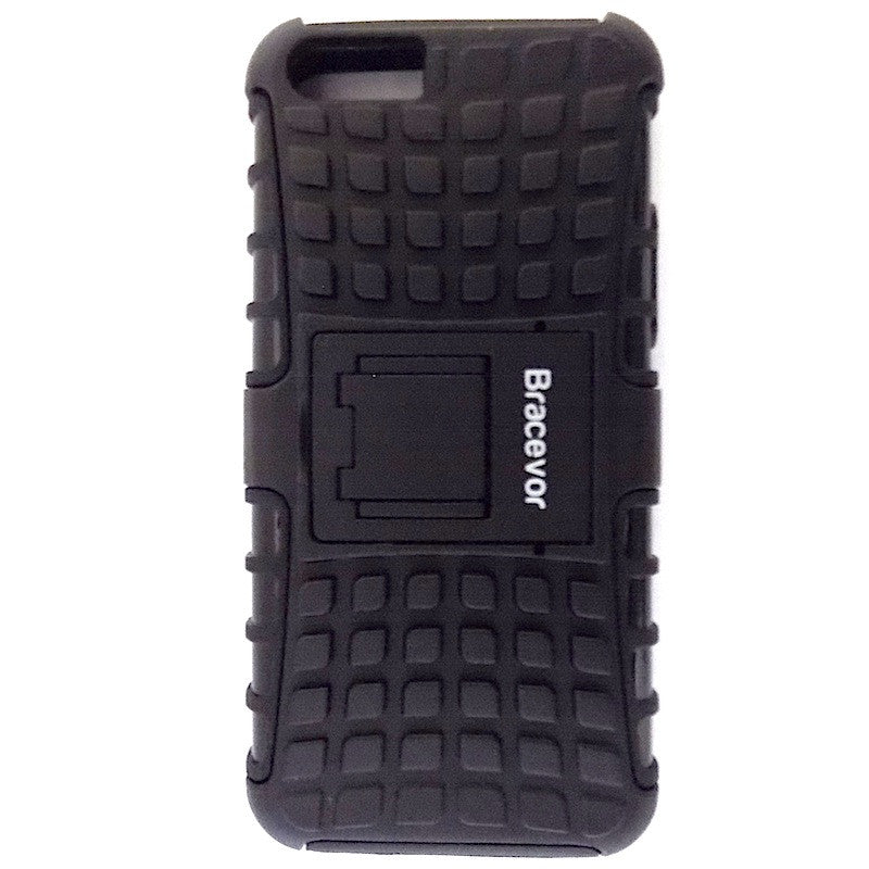 Bracevor Rugged Armor Hybrid Kickstand Case Cover for Apple iPhone 5c - Black