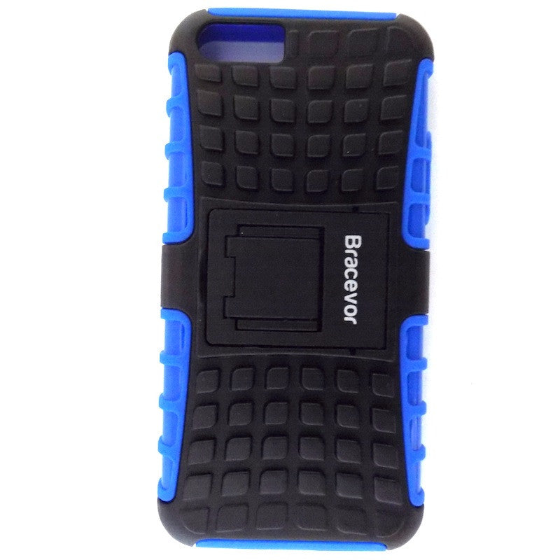 Bracevor Rugged Armor Hybrid Kickstand Case Cover for Apple iPhone 5c - Blue
