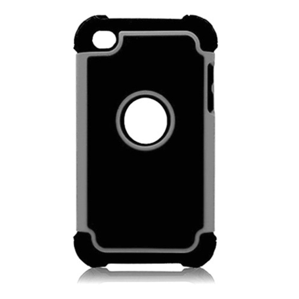 Bracevor Triple Layer Defender Back Case Cover for Apple iPod Touch 4 - Grey