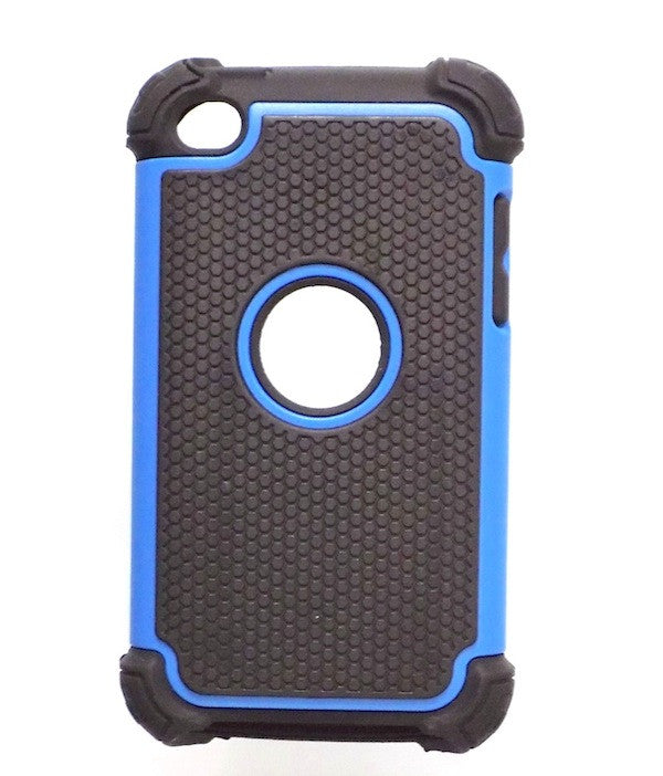 Bracevor Triple Layer Defender Back Case Cover for Apple iPod Touch 4 - Blue