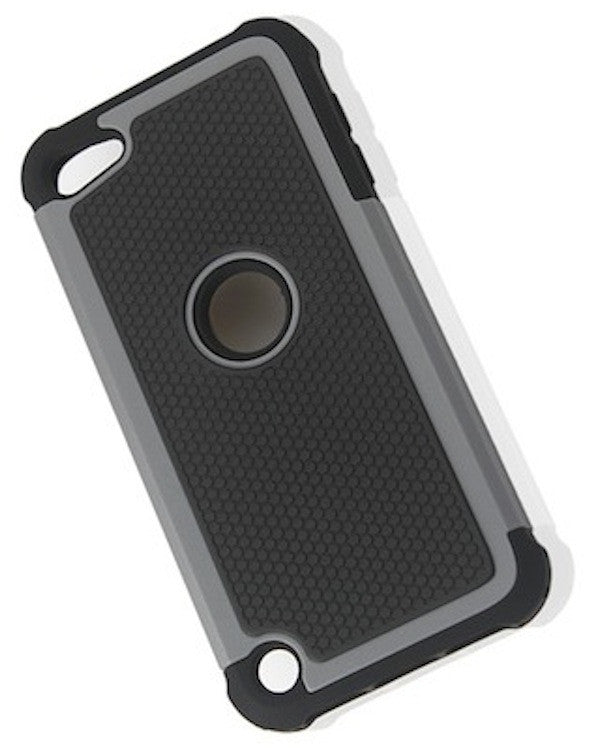 Bracevor Triple Layer Defender Back Case Cover for Apple iPod Touch 5 - Grey